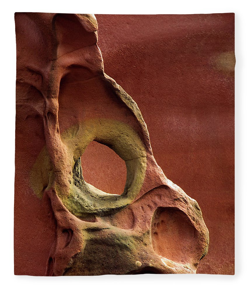 Geology Fleece Blanket featuring the photograph Sinister Forms by By Mediotuerto