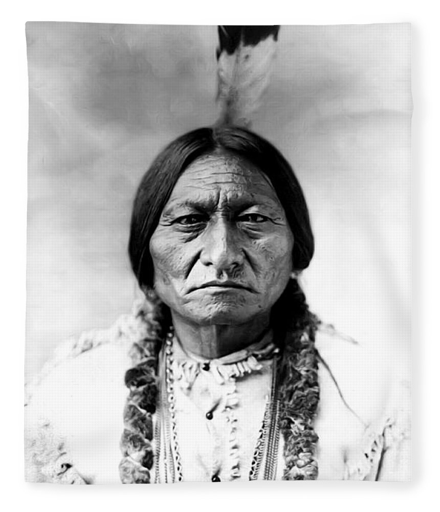 Sitting Bull Fleece Blanket featuring the photograph Sitting Bull by Bill Cannon