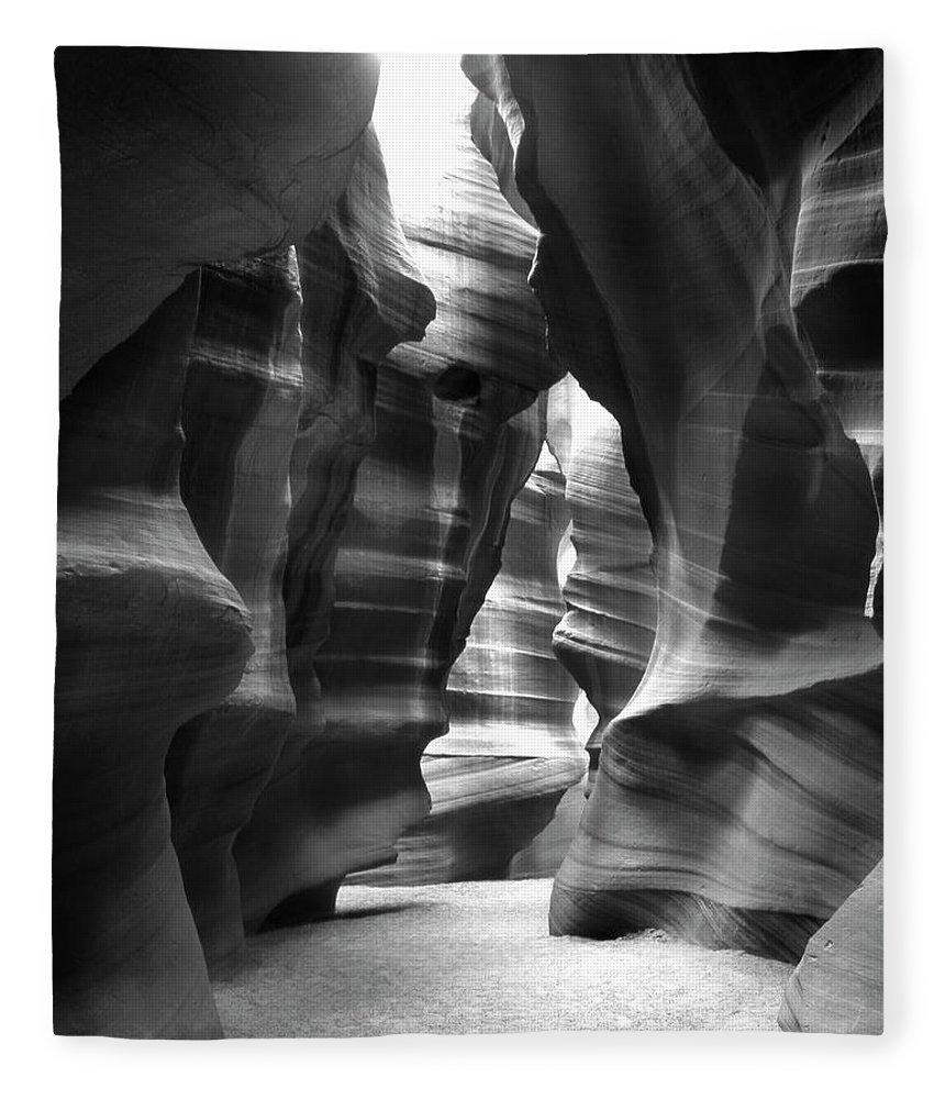 Slot Canyon Fleece Blanket featuring the photograph Slot Canyon 1 by Mike McGlothlen