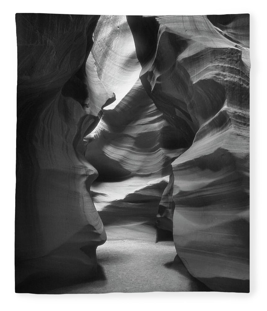 Slot Canyon Fleece Blanket featuring the photograph Slot Canyon 2 by Mike McGlothlen