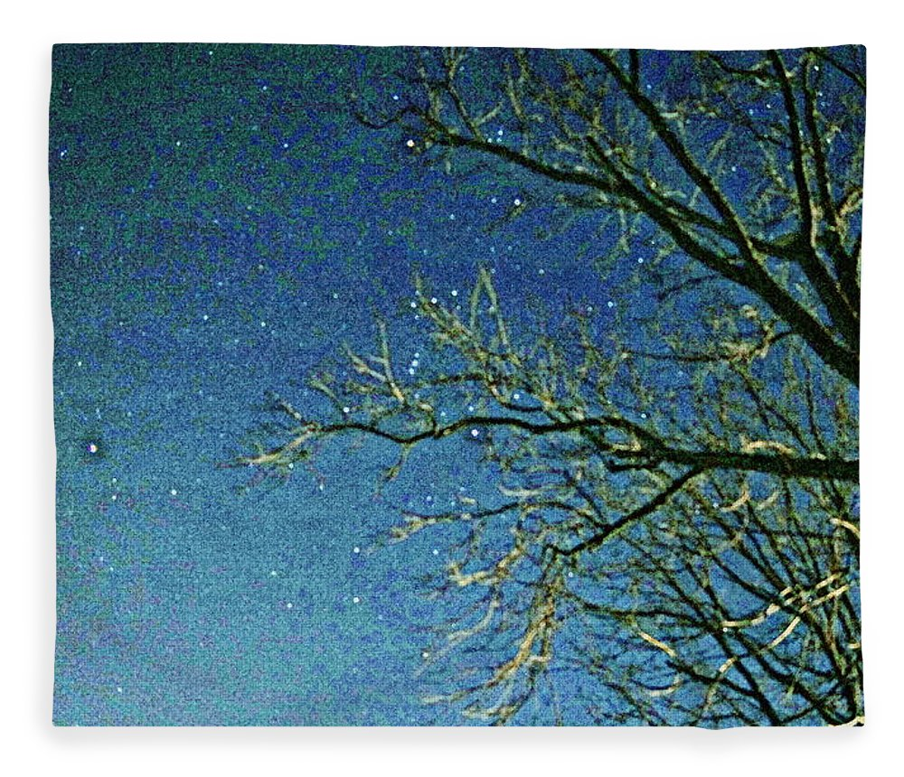 Sky Fleece Blanket featuring the photograph Solemn Sky by Paul Wilford