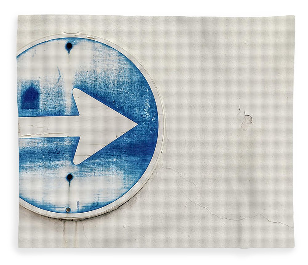 Outdoors Fleece Blanket featuring the photograph Spain, Arrow Sign, Close Up by Westend61