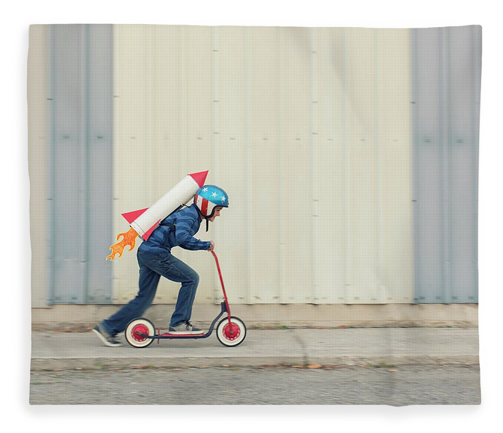 Taking Off Fleece Blanket featuring the photograph Speed by Richvintage