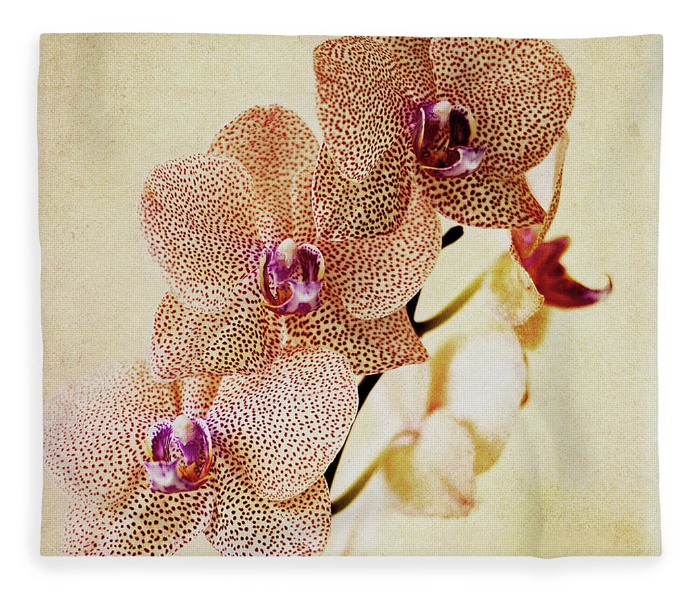 Petal Fleece Blanket featuring the photograph Spotted Orchid by Image By Sherry Galey