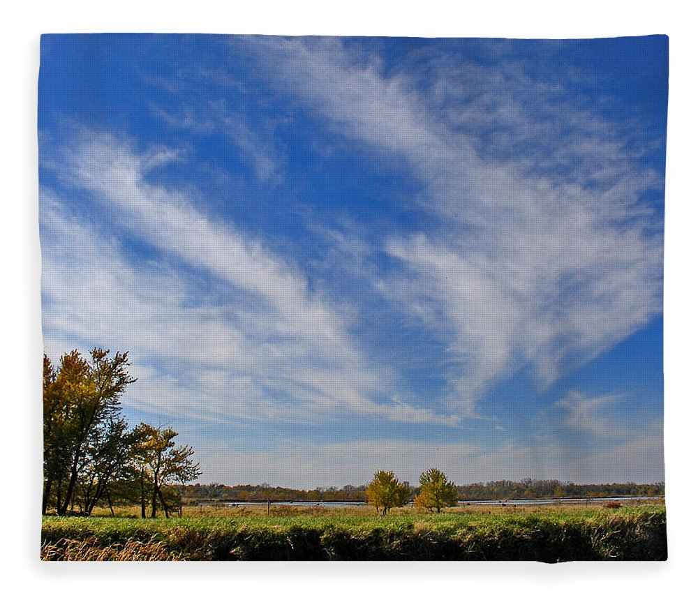 Landscape Fleece Blanket featuring the photograph Squaw Creek Landscape by Steve Karol