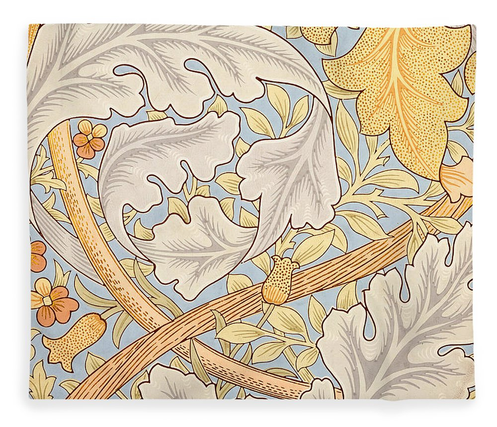St James Fleece Blanket featuring the painting St James Wallpaper Design by William Morris