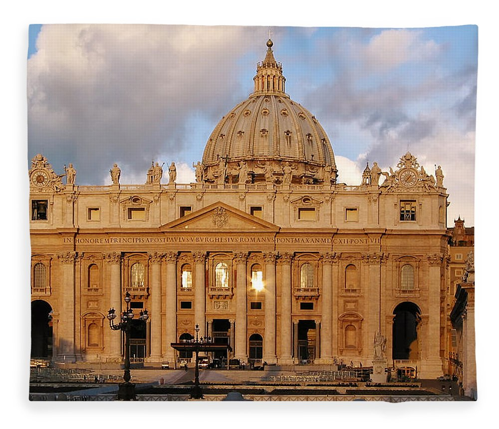 3scape Photos Fleece Blanket featuring the photograph St. Peters Basilica by Adam Romanowicz