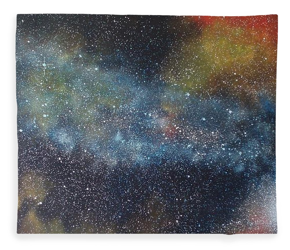 Oil Painting On Canvas Fleece Blanket featuring the painting Stargasm by Sean Connolly