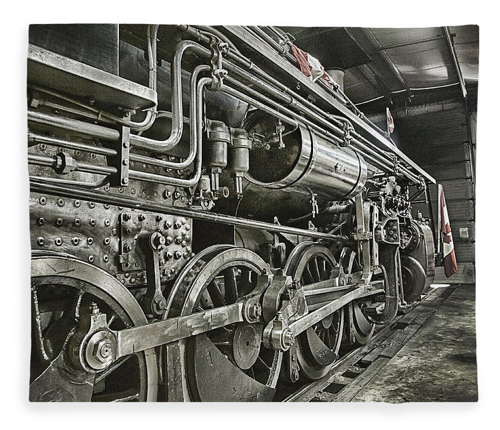 Steam Fleece Blanket featuring the photograph Steam Locomotive 2141 by Theresa Tahara