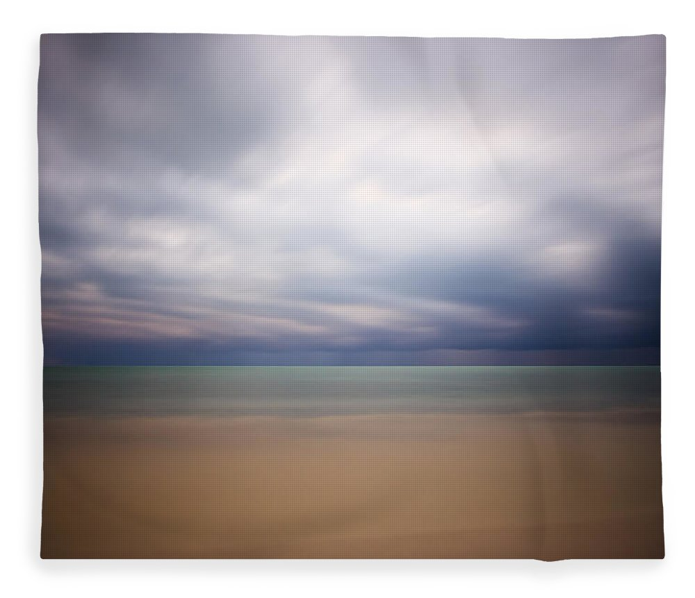 3scape Photos Fleece Blanket featuring the photograph Stormy Calm by Adam Romanowicz