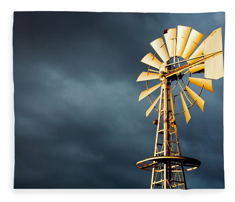 Stormy Fleece Blanket featuring the photograph Stormy Skies by Todd Klassy