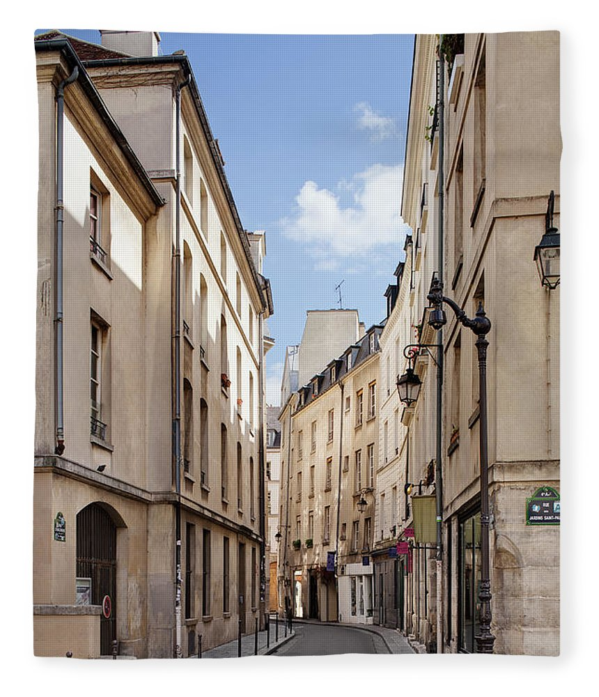 Tranquility Fleece Blanket featuring the photograph Street In Central Paris by Raimund Koch