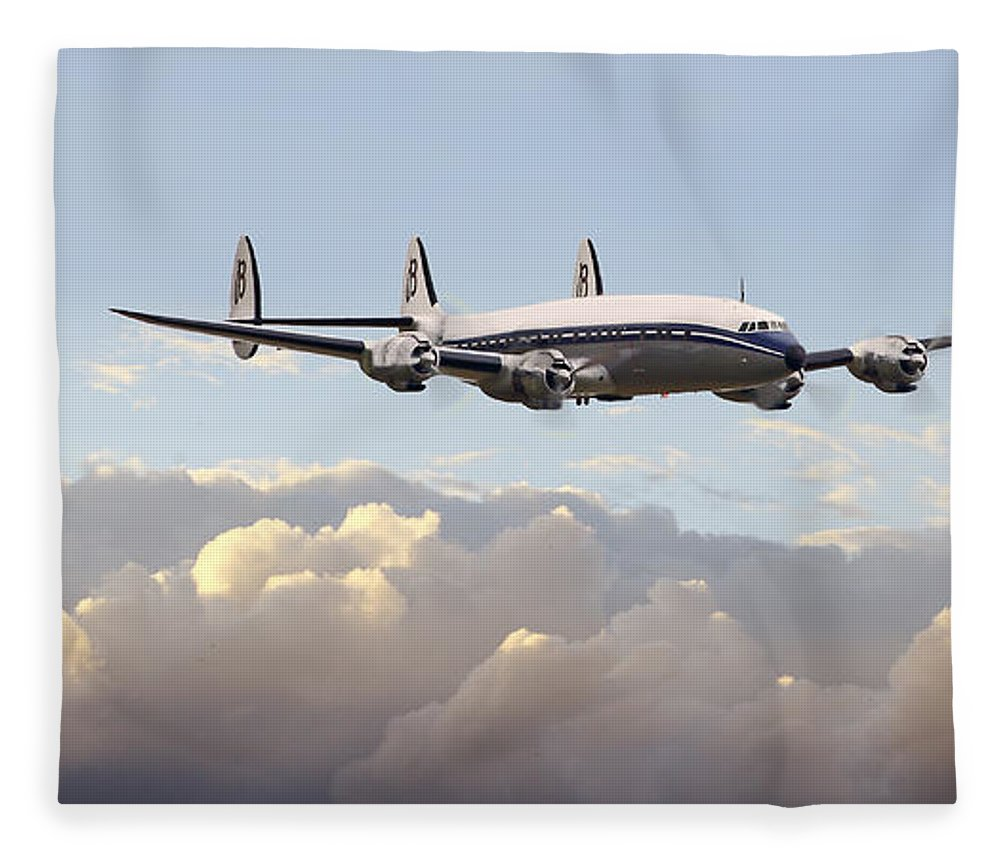 Aircraft Fleece Blanket featuring the photograph Super Constellation - End Of An Era by Pat Speirs