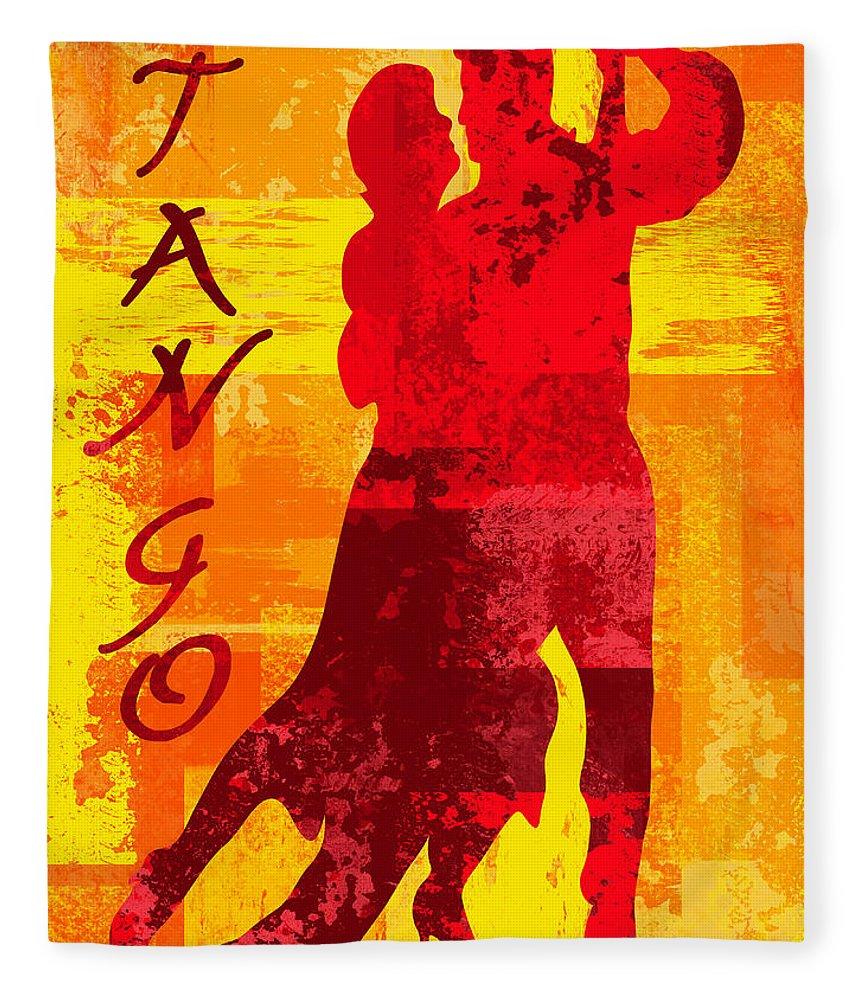 Tango Fleece Blanket featuring the digital art Tango by David G Paul