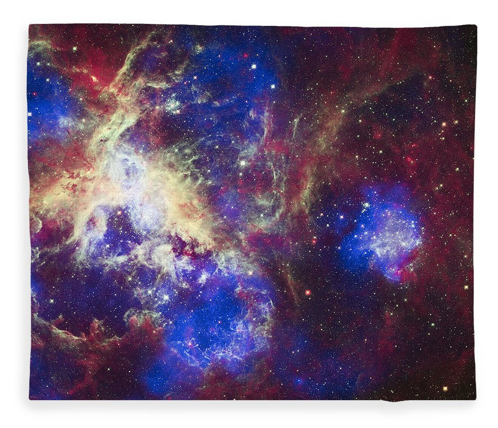 3scape Fleece Blanket featuring the photograph Tarantula Nebula by Adam Romanowicz
