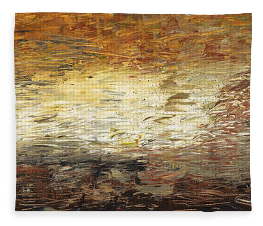 Terra Fleece Blanket featuring the painting Terra by Nadine Rippelmeyer