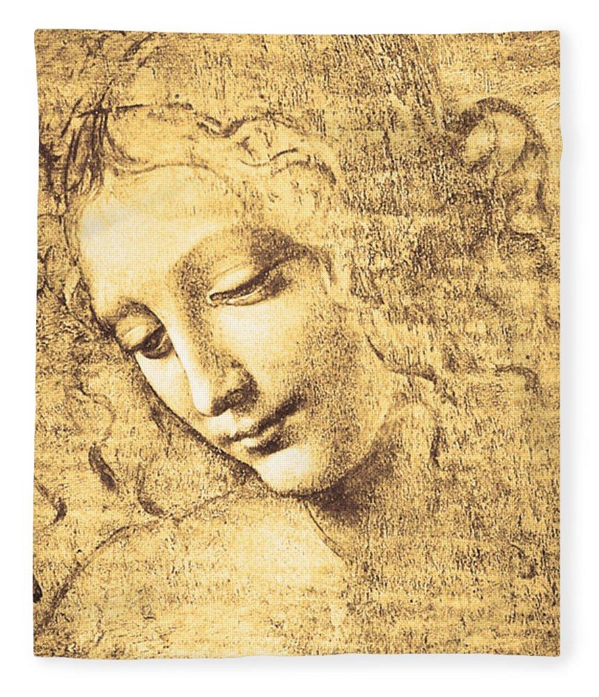 Testa Di Fanciulla Detta La Scapigliata Fleece Blanket for Sale by ...