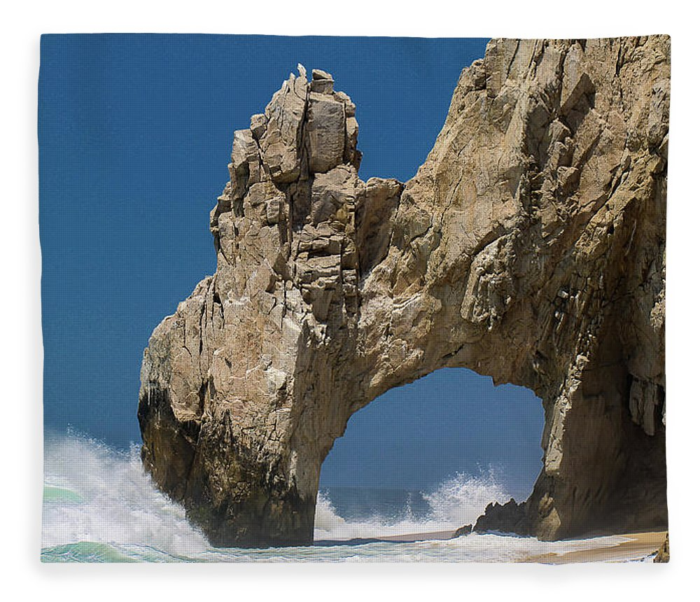 Scenics Fleece Blanket featuring the photograph The Arch Of Los Cabos San Lucas by Marc Javelly