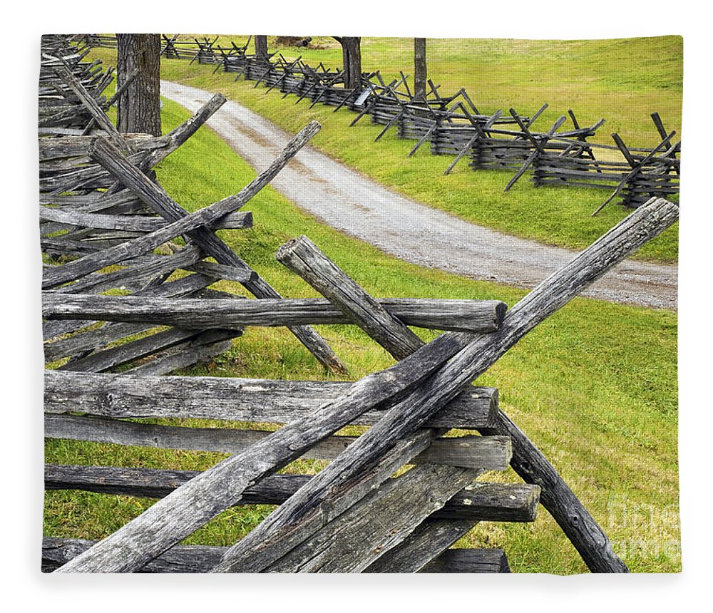 Antietam Fleece Blanket featuring the photograph The Bloody Lane At Antietam by Paul W Faust - Impressions of Light