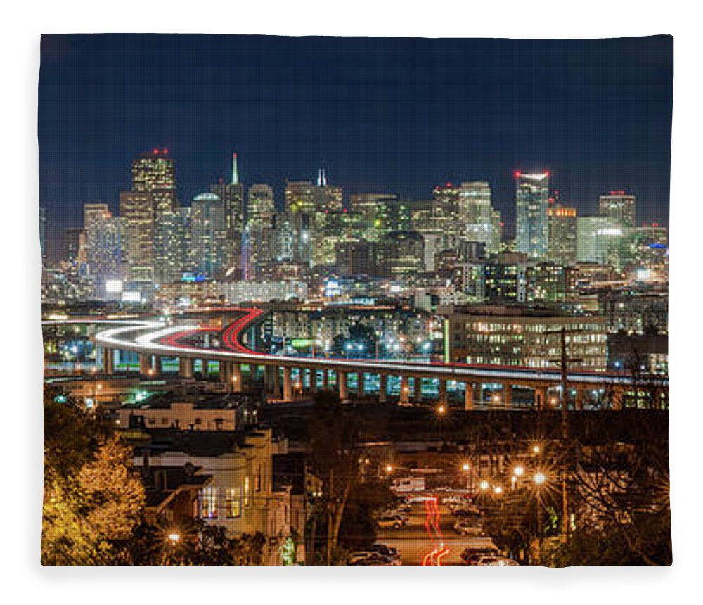 Tranquility Fleece Blanket featuring the photograph The Breath Taking View Of San Francisco by Www.35mmnegative.com