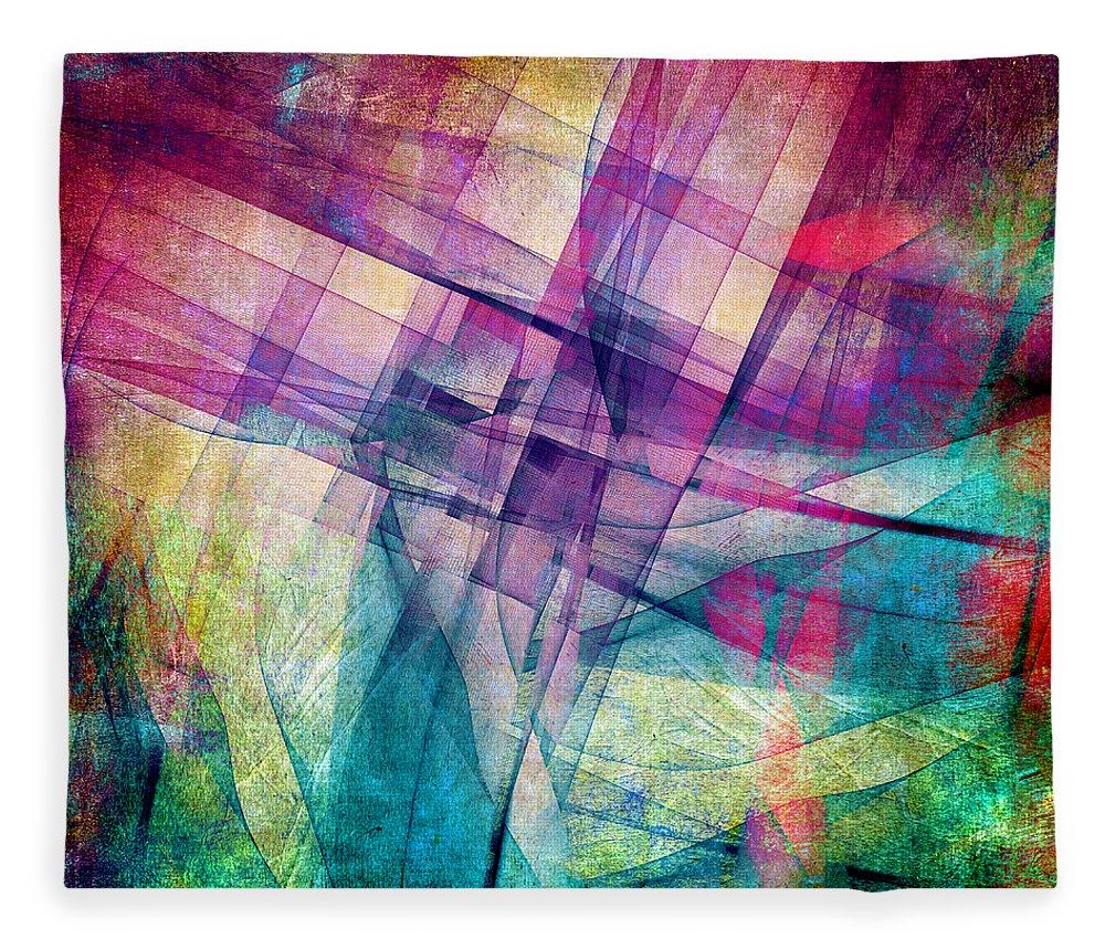 Buildings Block Fleece Blanket featuring the digital art The Building Blocks by Angelina Tamez