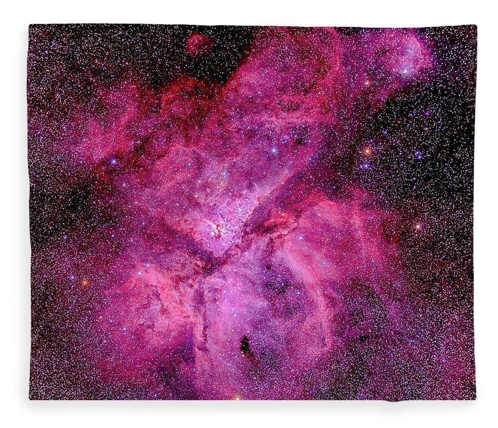 Southern Hemisphere Fleece Blanket featuring the photograph The Carina Nebula In The Southern Sky by Alan Dyer/stocktrek Images