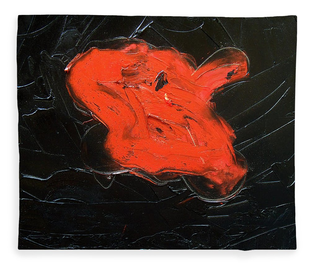 Surreal Fleece Blanket featuring the painting The last hope by Sergey Bezhinets