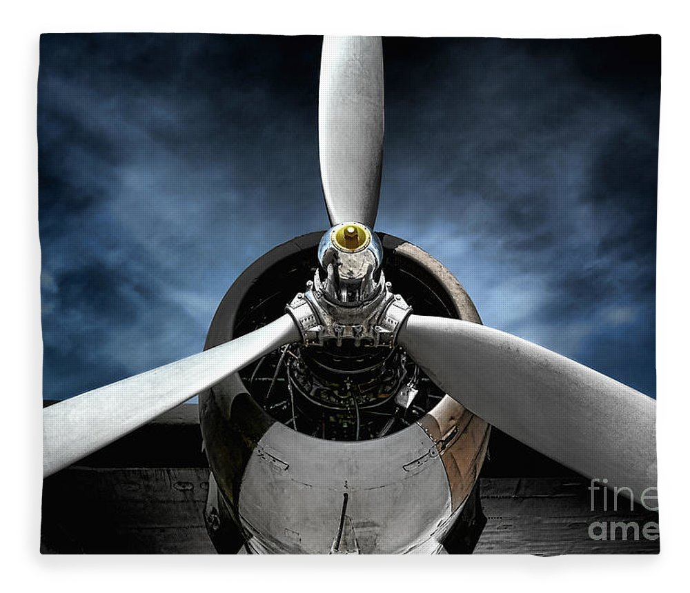 Plane Fleece Blanket featuring the photograph The Mission by Olivier Le Queinec