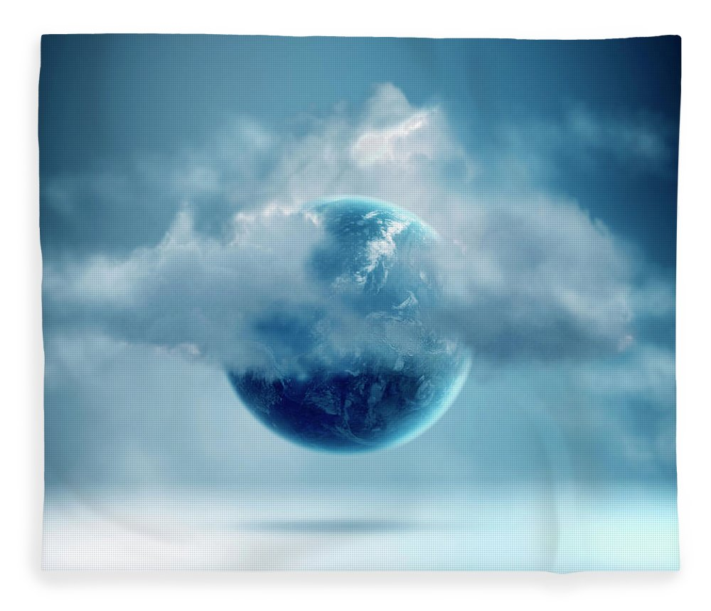 Tranquility Fleece Blanket featuring the photograph The New World Of Cloud Computing by Colin Anderson