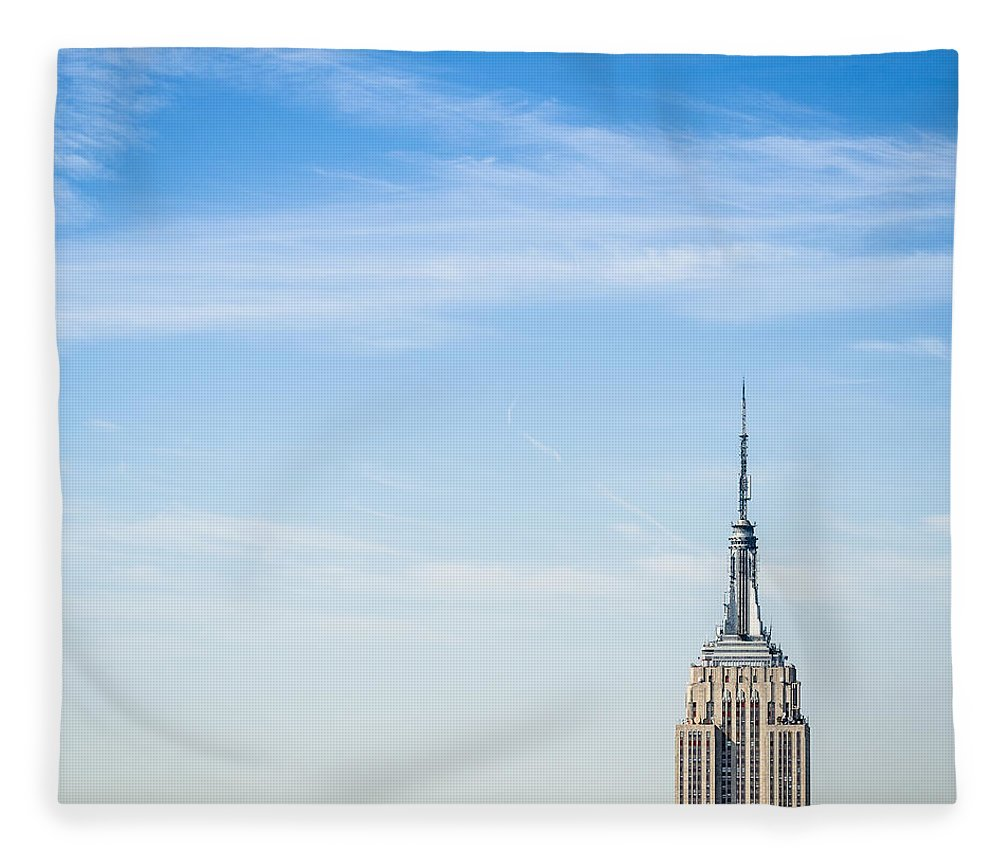 Lower Manhattan Fleece Blanket featuring the photograph The New York City Empire State Building by Franckreporter