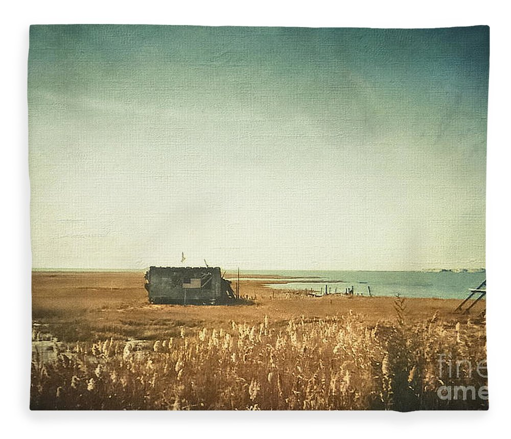 Shack Fleece Blanket featuring the photograph The Shack - Lbi by Colleen Kammerer