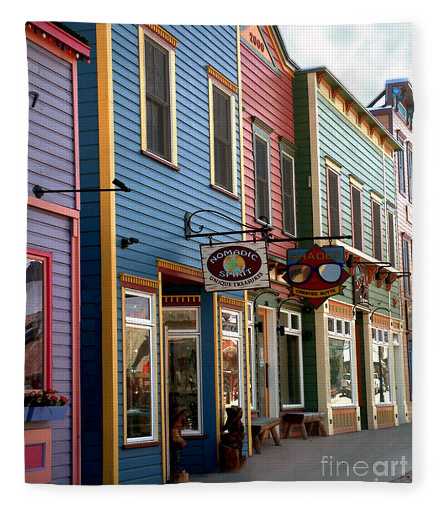 Landscape Fleece Blanket featuring the photograph The Shops In Crested Butte by RC DeWinter