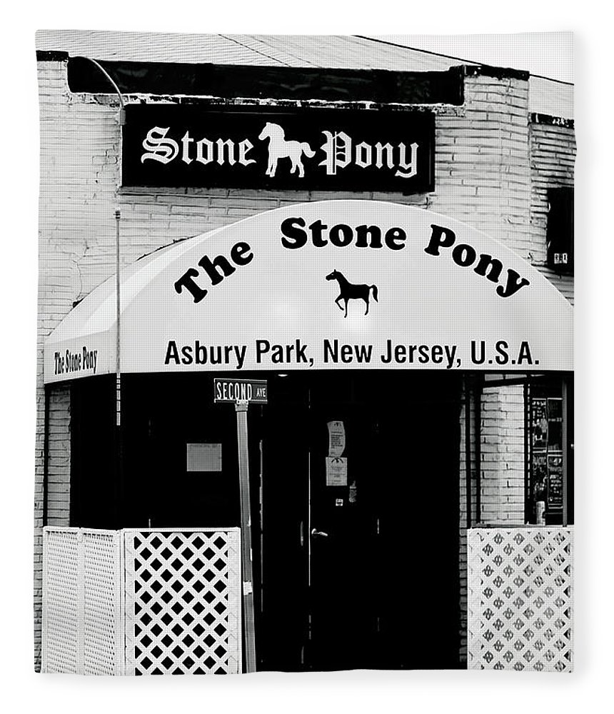 Stone Pony Fleece Blanket featuring the photograph The Stone Pony Asbury Park NJ by Terry DeLuco