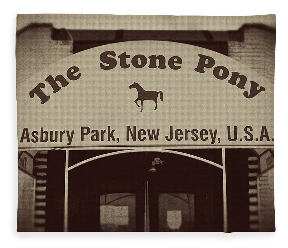 The Stone Pony Vintage Asbury Park New Jersey Fleece Blanket featuring the photograph The Stone Pony Vintage Asbury Park New Jersey by Terry DeLuco