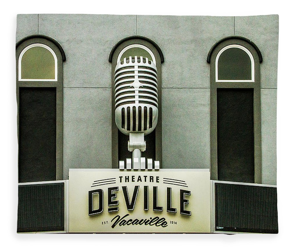 Deville Fleece Blanket featuring the photograph Theatre Deville by Bill Gallagher