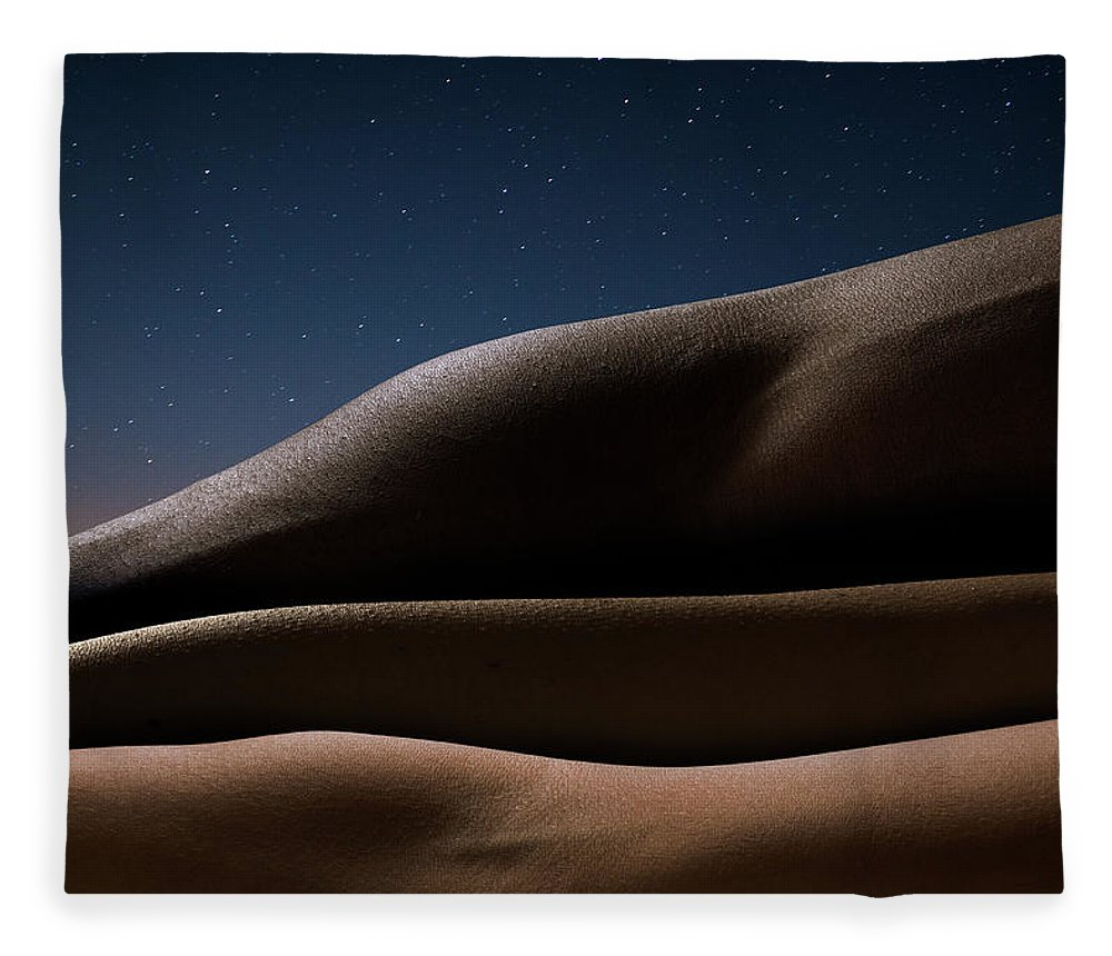 Human Arm Fleece Blanket featuring the photograph Three Arms Against Starry Night, Close by Jonathan Knowles