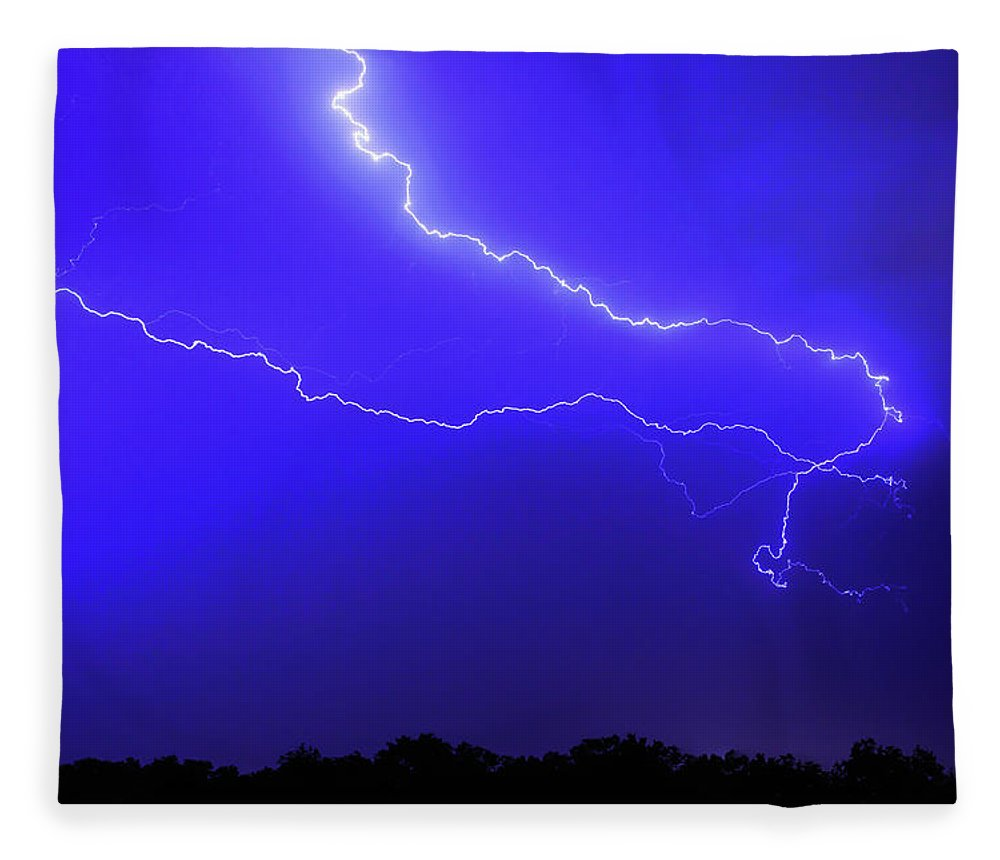 Thunderstorm Fleece Blanket featuring the photograph Thunderstorm In The Rain by Republica