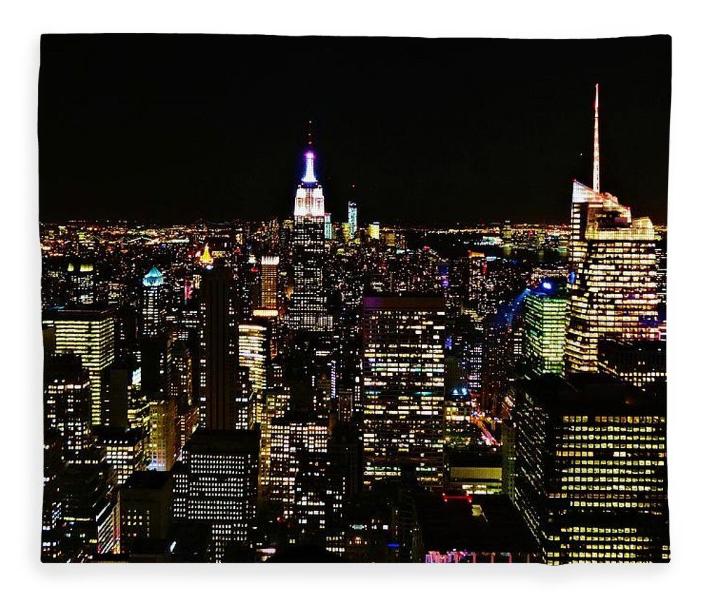 Top Of The Rock Fleece Blanket featuring the photograph Top Of The Rock by Dan Sproul