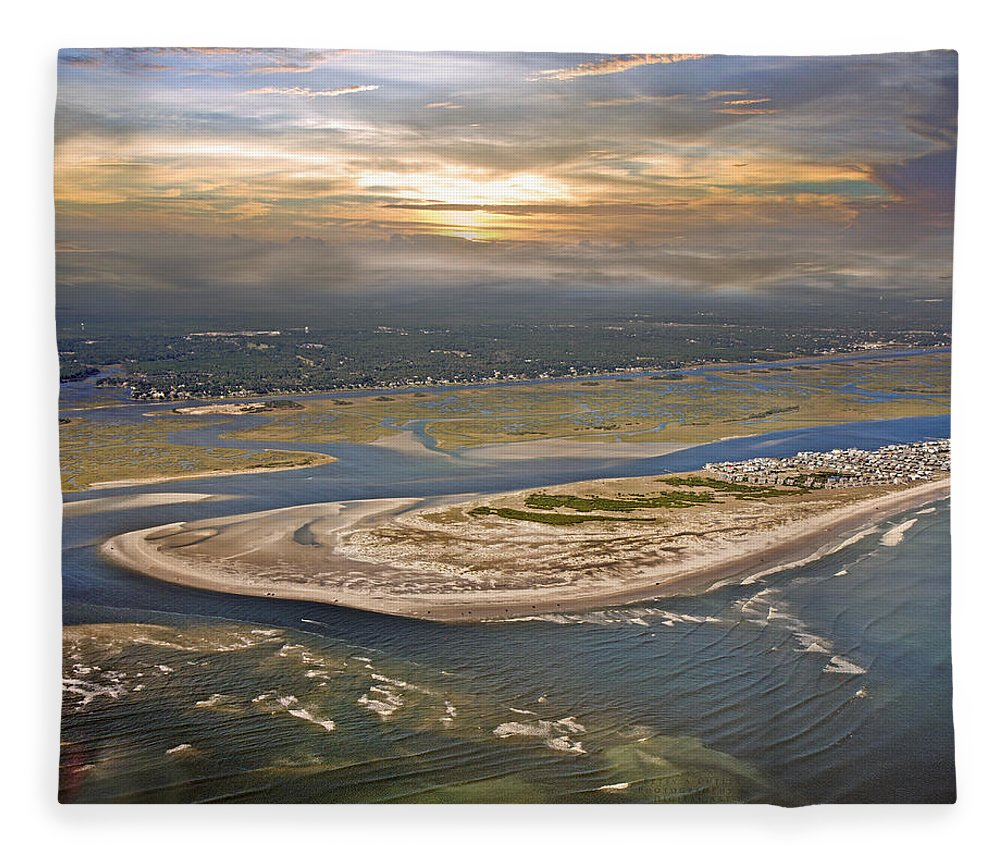 Outer Fleece Blanket featuring the photograph Topsail Island Paradise by Betsy Knapp