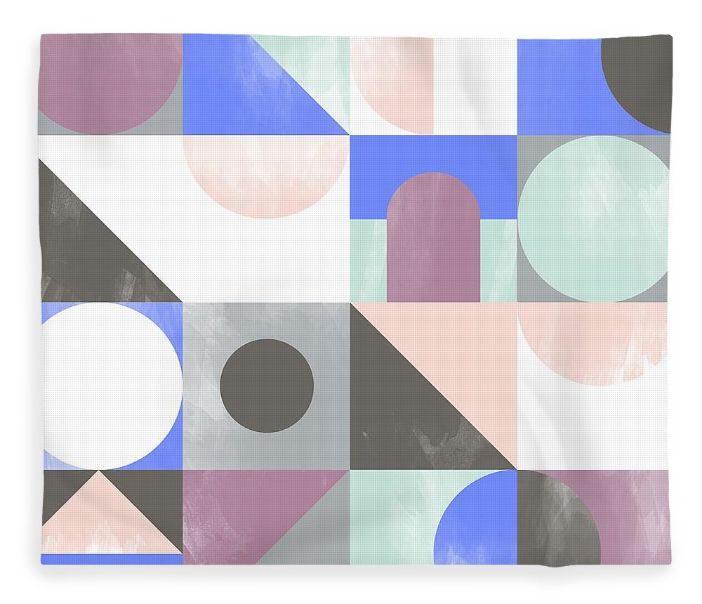 Pattern Fleece Blanket featuring the painting Toy Blocks by Laurence Lavallee