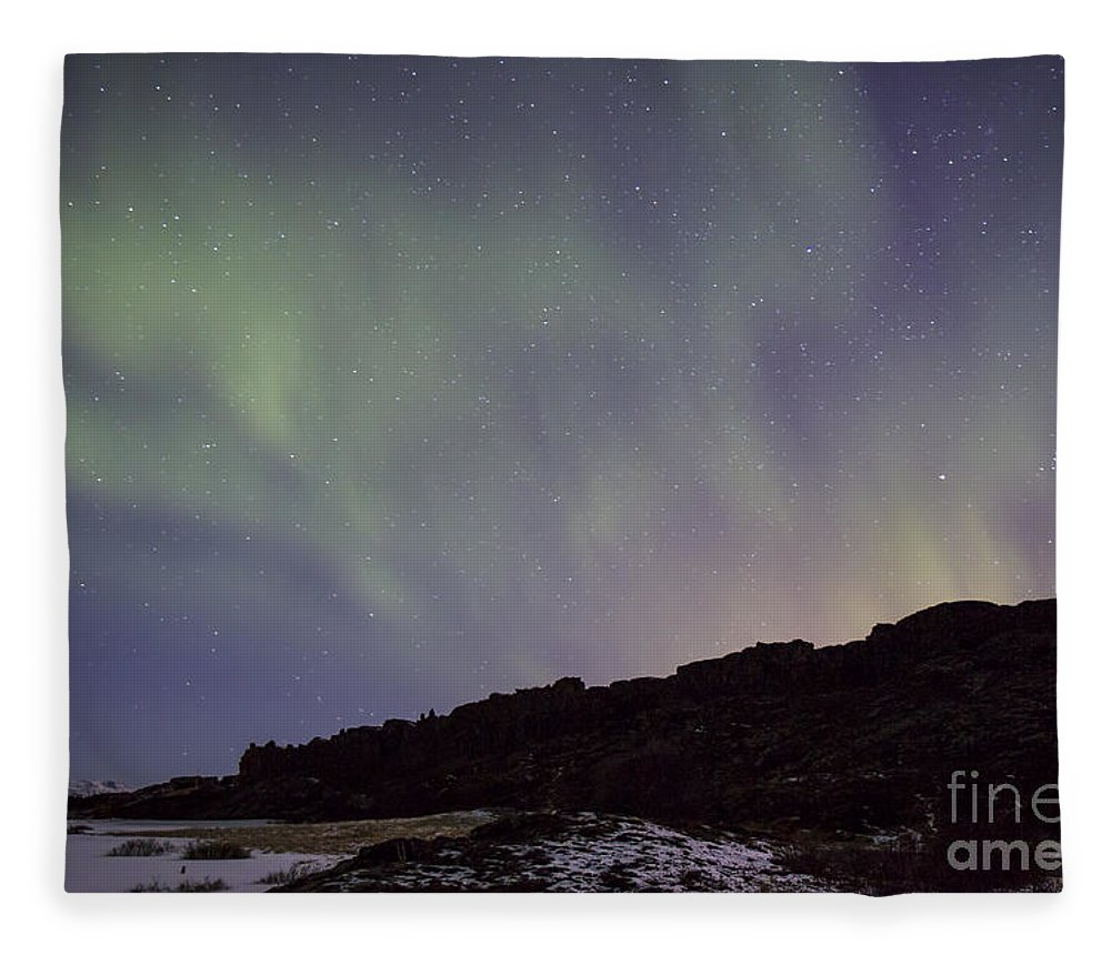 Thingvellir Fleece Blanket featuring the photograph Traces Of Dreams by Evelina Kremsdorf