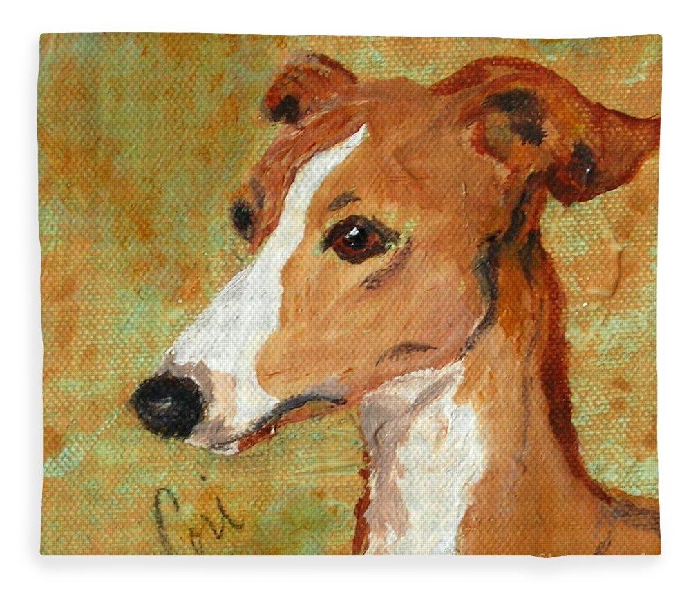 Acrylic Fleece Blanket featuring the painting Treasured Moments by Cori Solomon