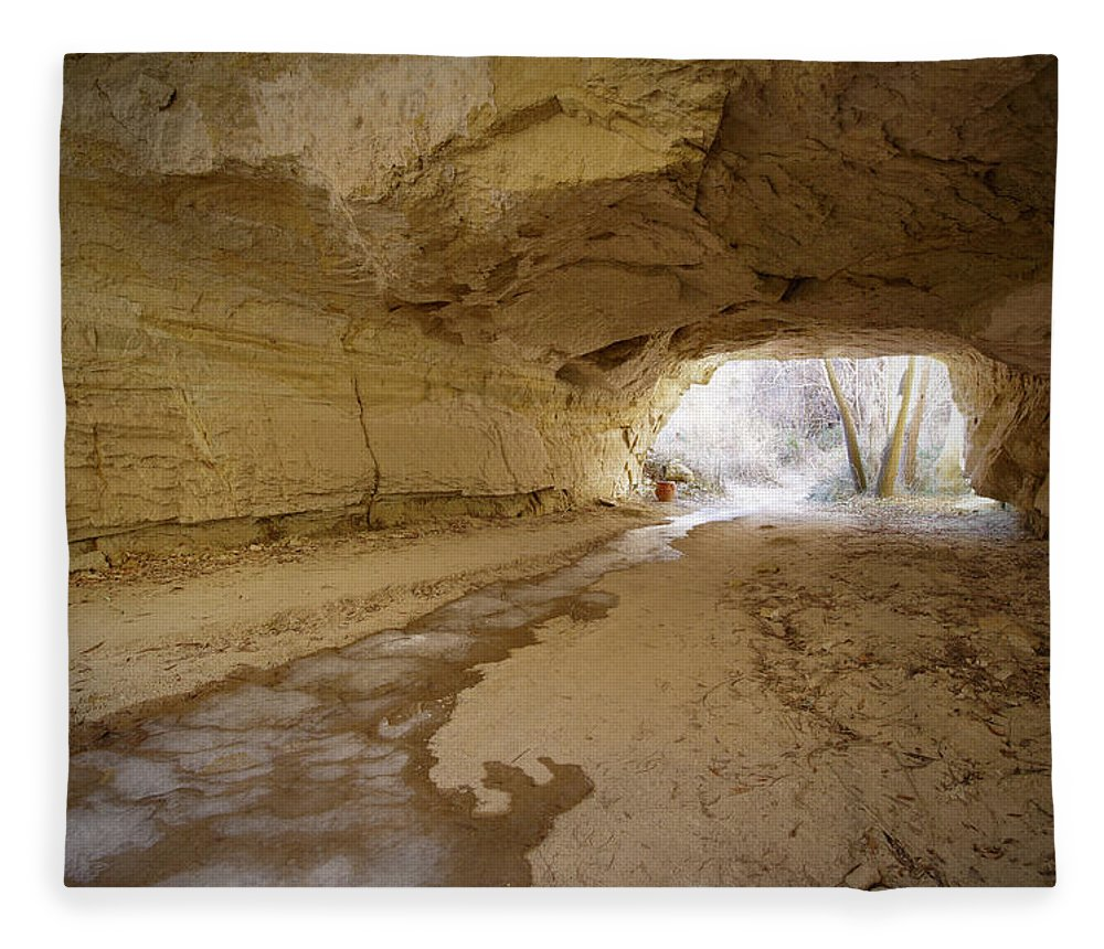 Mineral Fleece Blanket featuring the photograph Tunnel by Sandsun
