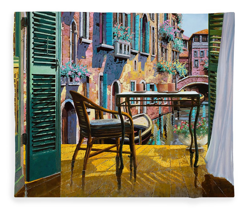 Un Soggiorno A Venezia Fleece Blanket for Sale by Guido Borelli