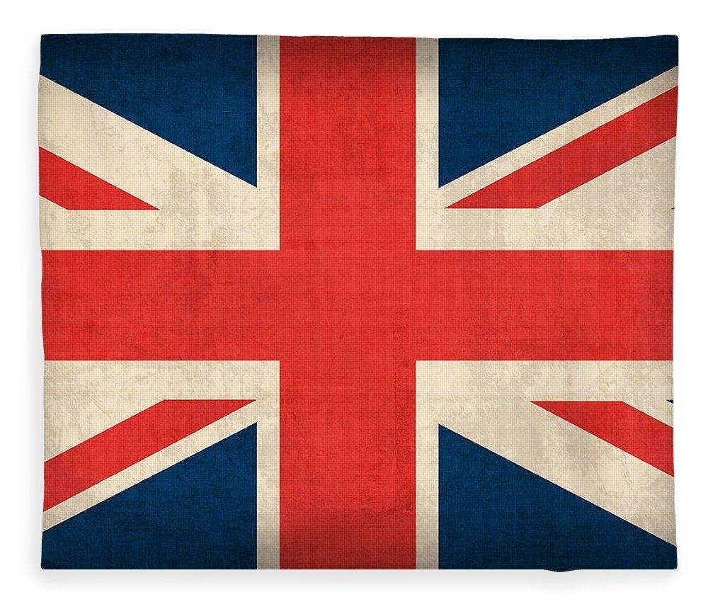 United Kingdom Union Jack England Britain Flag Vintage Distressed Finish London English Europe Uk Country Nation