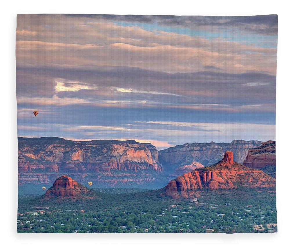 Scenics Fleece Blanket featuring the photograph Usa, Arizona, Sedona by Michele Falzone