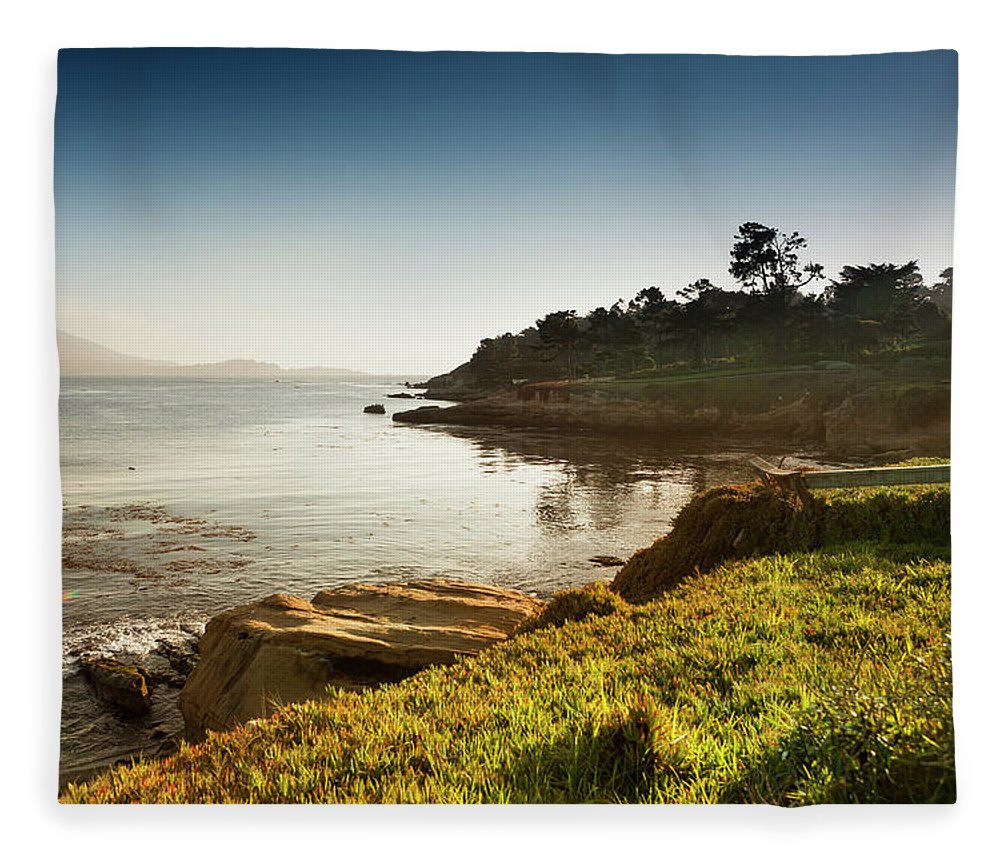 Water's Edge Fleece Blanket featuring the photograph Usa, California, Big Sur, Coastline And by Pgiam