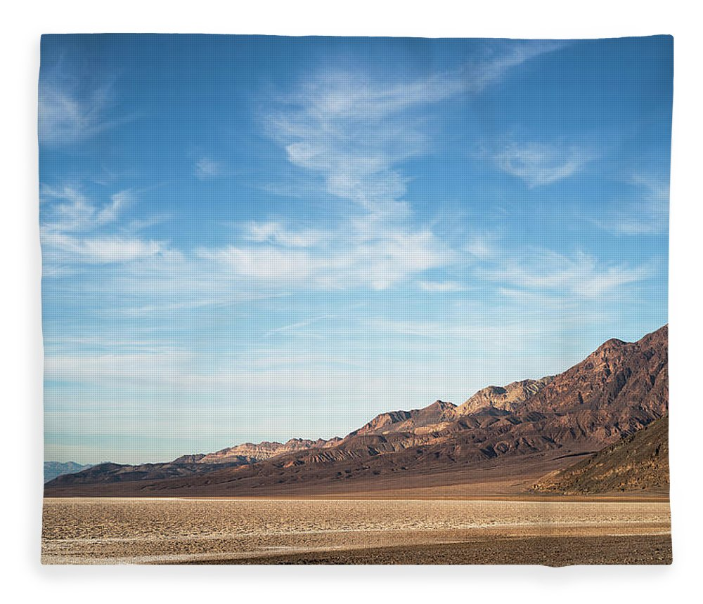 Scenics Fleece Blanket featuring the photograph Usa, California, Death Valley, Desert by Gary Weathers