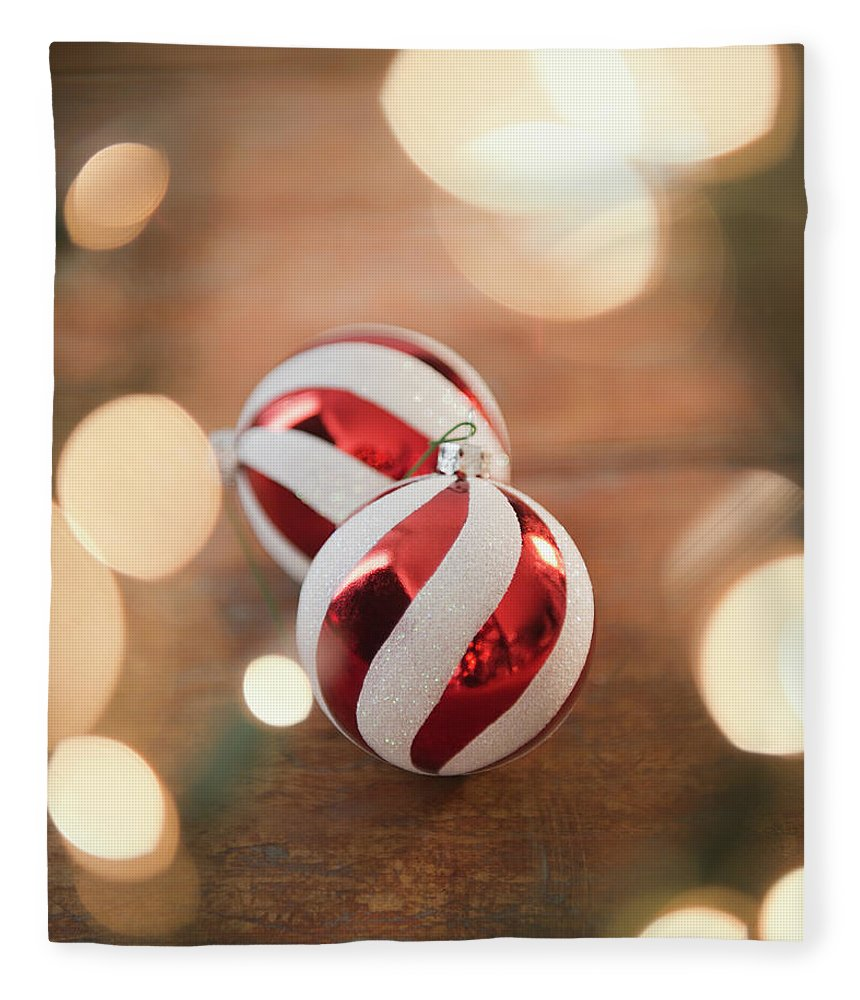 Christmas Ornament Fleece Blanket featuring the photograph Usa, New Jersey, Jersey City, Christmas by Jamie Grill
