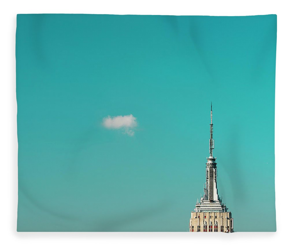 Outdoors Fleece Blanket featuring the photograph Usa, New York City, Empire State by Tetra Images